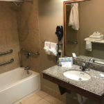accessible bathroom at Beachcomber Inn