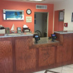 front desk at Beachcomber Inn