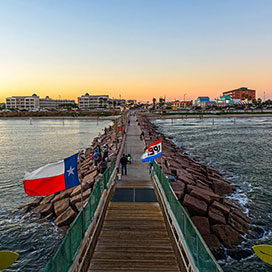 pier 61 boardwalk in Galveston